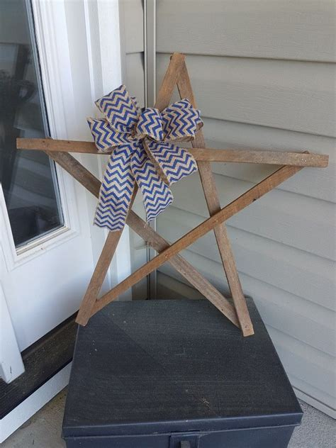 tobacco stick star  chevron bow craft stick crafts