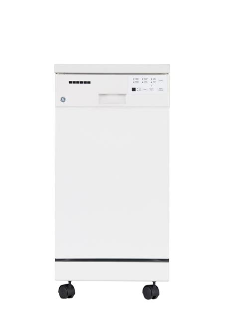 Ge 18inch Portable Dishwasher With Short Stainless Steel