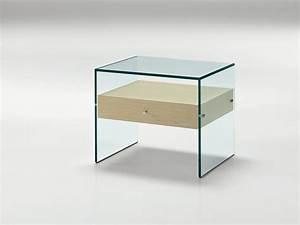 glass bedside table secret by td tonelli design With tables de nuit design