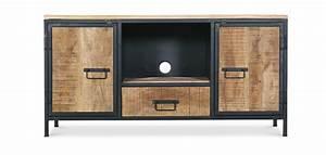 Meuble Tv Buffet : meuble tv en m tal style industriel vintage ~ Teatrodelosmanantiales.com Idées de Décoration