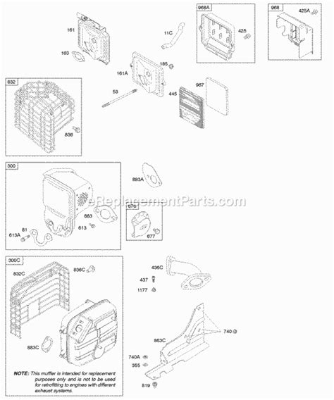204412 Engine Diagram by Briggs And Stratton 204412 0147 E1 Parts List And Diagram