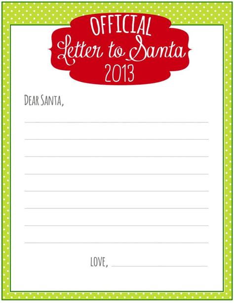 printable letter to santa with the rainy day 8 free printable letters to santa 61211