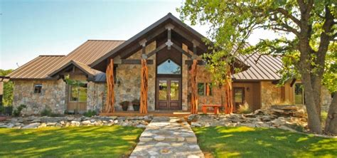 rustic charm    texas hill country home plans
