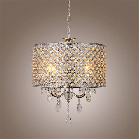 White Modern Chandelier by Luxury Drum Shape Modern Silver Pendant Chandelier