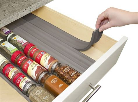 Drawer Spice Rack by Youcopia Spiceliner Home Kitchen Drawer Spice Storage