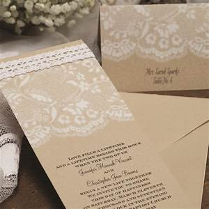 rustic chic leather wedding invitations australia With rustic lace wedding invitations australia