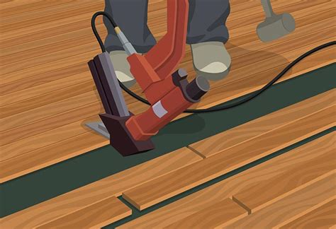 how to install row of hardwood flooring how to install hardwood flooring at the home depot