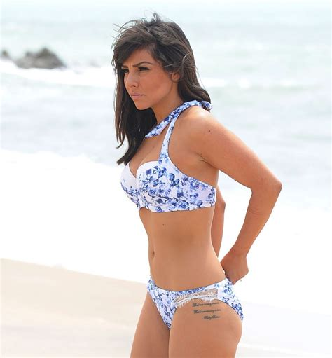 roxanne pallett swimsuit roxanne pallett in blue white bikini at beach in