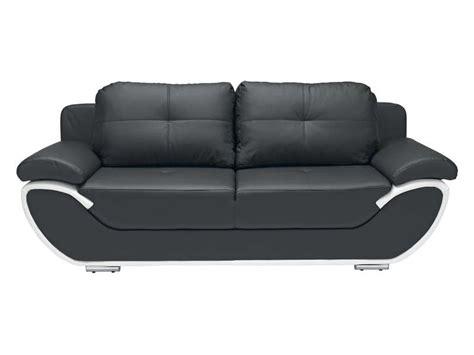canapé convertible noir et blanc canapé fixe convertible 3 places pacora coloris noir et
