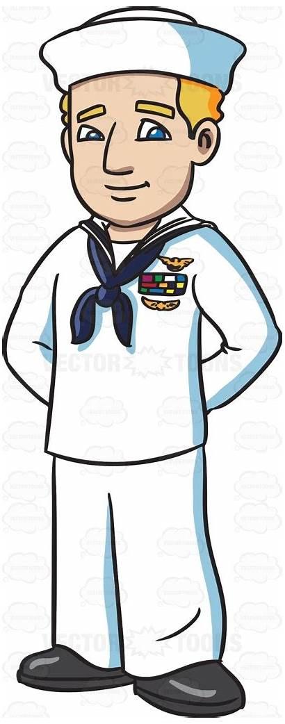 Sailor Navy Clipart Clip Cartoon Uniform Vector