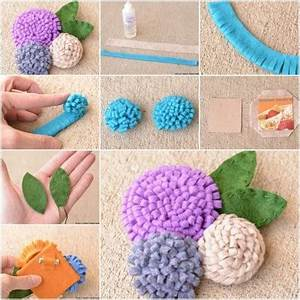 How to make Nice Simple Felt Flower step by step DIY tutorial instructions How To Instructions