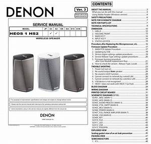 Denon Heos 1 Hs2 Wireless Speaker System Service Manual