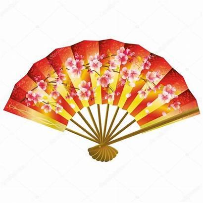 Fan Japanese Clipart Giapponese Clip Blanc Ventaglio