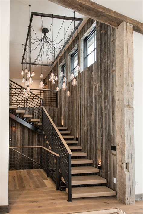 rustic stairs with iron stair railing staircase rustic and rustic paintings