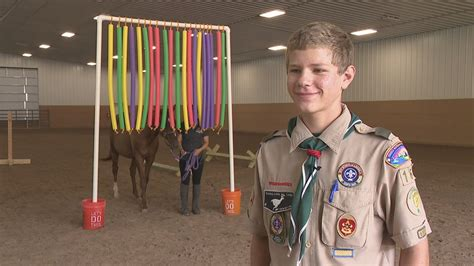 wham training eagle scout candidate builds equine training obstacles for