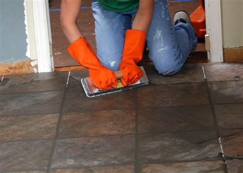 laying tile in kitchen prepare and install a tile floor hgtv 6865