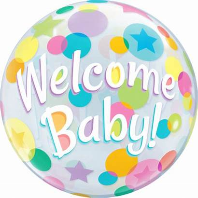 Welcome Balloon Bubble Dots Balloons Party Colourful