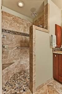 le carrelage beige pour salle de bain 54 photos de With sol en galets salle de bain
