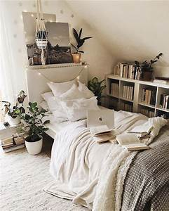 Simple, But, Cozy, Bedroom, With, Tons, Of, Books, And, Plants, By
