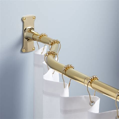 offset solid brass shower curtain rod shower curtain