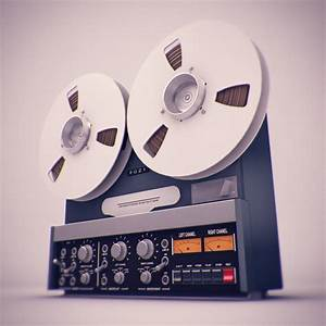 Old Tape Recorder 3d Model Max Obj Fbx Ma Mb Tga