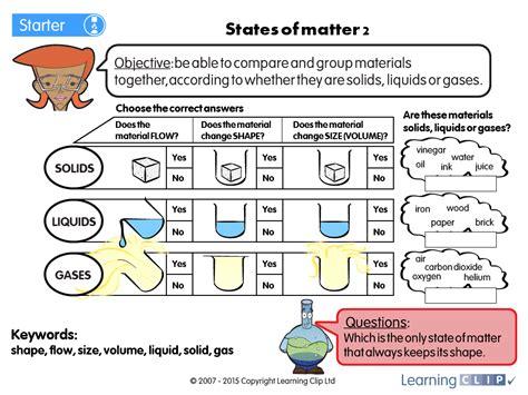 states of matter simulation worksheet free printables