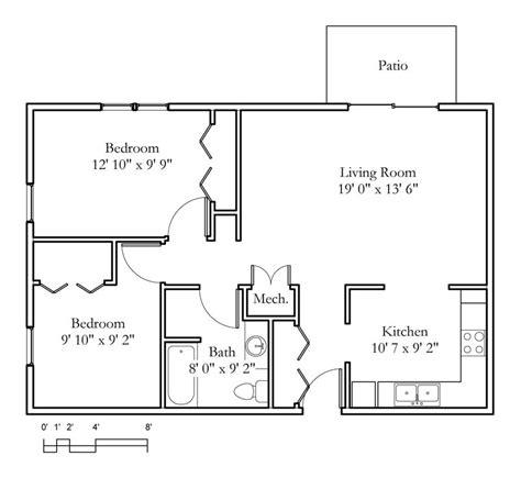 2 bedroom 1 bath sle floor plans meadowlark continuing care 13924 | 2 bedroom 1 bath 823sqft