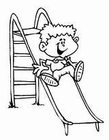 Colorir Coloring Children Bambini Che Giocano Pintar Desenhos Brincando Menino Brincadeiras Disegni Patio Escorregador Juegos Tobogan Folcloricas Dibujos Laminas Imprimir sketch template