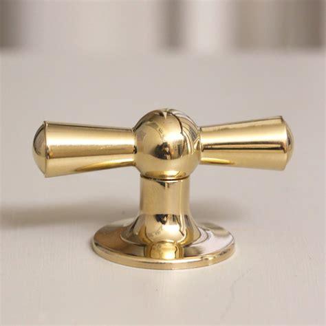 brass kitchen knobs crossed cabinet knob brass