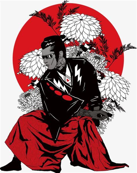 japanese samurai color color clipart japan bushido png