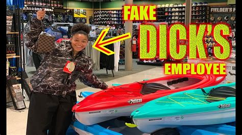 Fake Dick Sporting Goods Employee Prank Kicked Out