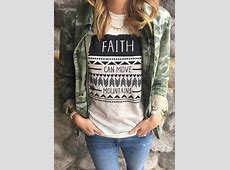 Faith Can Move Mountains TShirt without Necklace