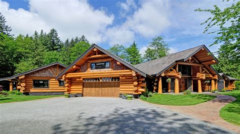 handcrafted log home summit log  timber homes square