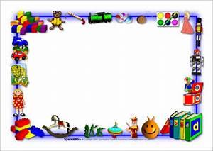 Toys Themed A4 Page Borders SB3895 SparkleBox