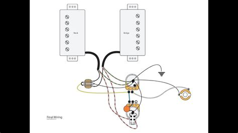Master Volume Guitar Wiring by Dual Humbuckers With Master Vol Tone And Coil Splits