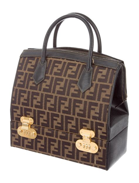 Vanity Luggage - fendi vintage zucca vanity bag handbags fen57580 the
