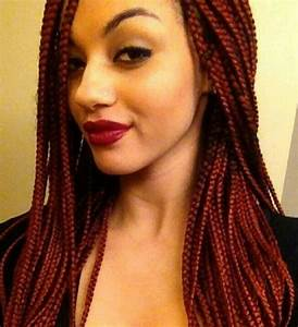 Red Box Braids • Singles • Extensions • Protective Style ...
