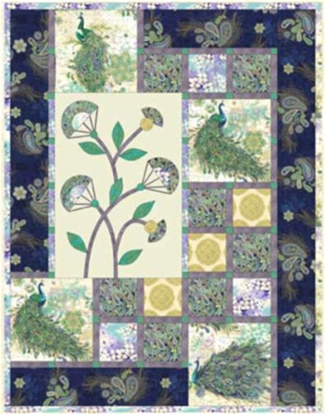 Paisley Peacock Quilt Pattern