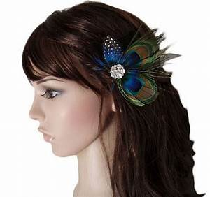 Peacock Feather Sparkling Rhinestones Bridal Wedding Hair