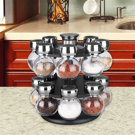 Revolving Spice Rack With 16 Spices by Home Basics 16 Revolving Spice Rack Sr44072 The