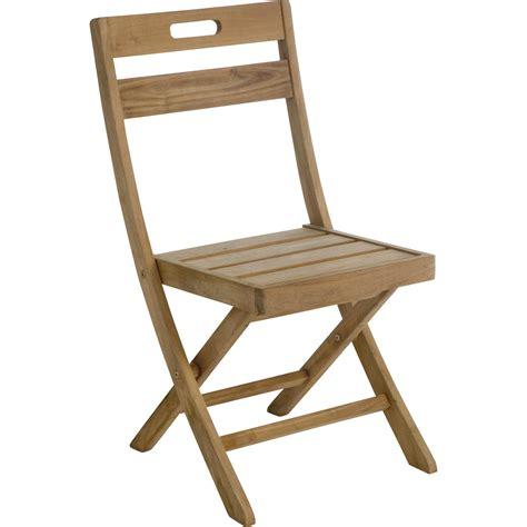 chaise en bois table rabattable cuisine chaise jardin en bois