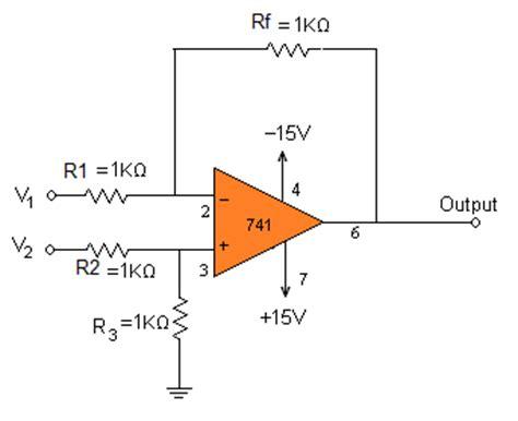 op amp adder  subtractor circuits