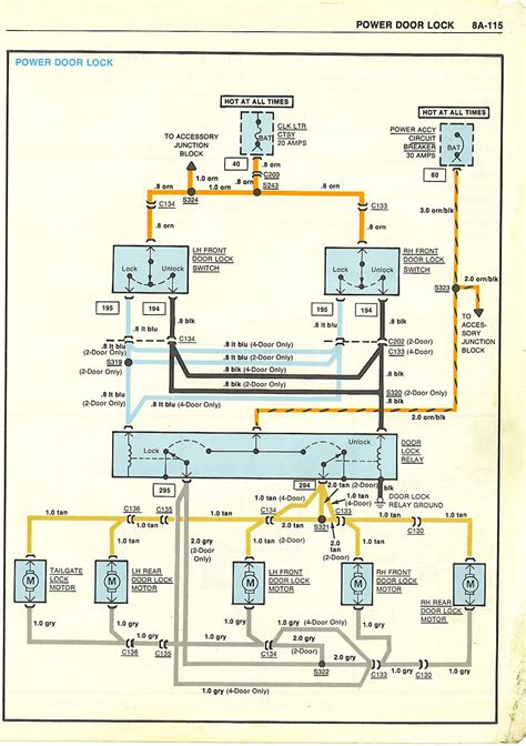 Power Lock Wiring Diagram Chevy by Lock Wire Diagram Ls Wiring Library