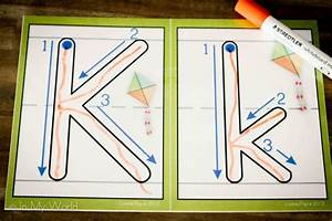preschool letter k in my world With finger tracing alphabet letters