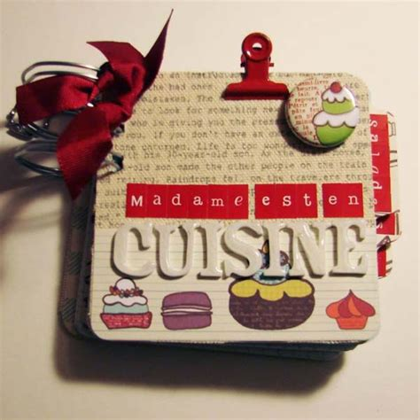 cahier de recette de cuisine cahier de recettes madame est en cuisine le scrap de cortaline