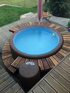 whirlpool on the patio garten pinterest pools With französischer balkon mit hot tub im garten