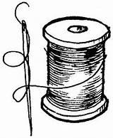 Thread Drawing Needle Spool Analuz Sketch Zaterdag Coloring Klosjes Added Template Pngio Februari sketch template