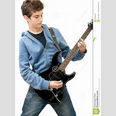 Teenager Playing Electric Guitar Stock Image  Image 17089401