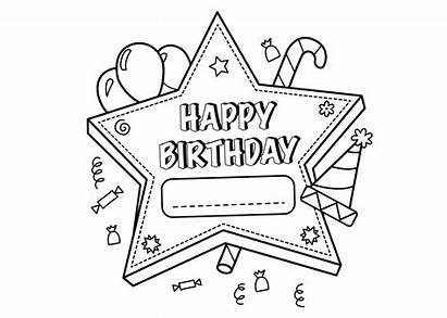 Coloring Pages Birthday Personalized Balloons Printable Getcolorings