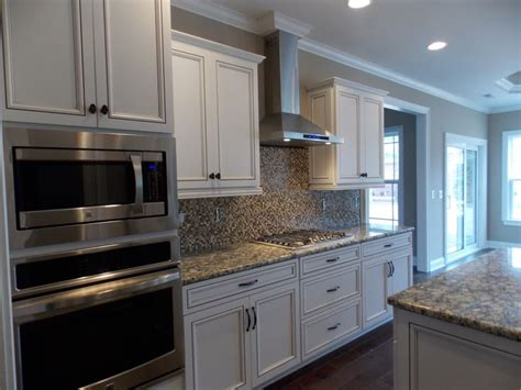 beautiful alabaster cabinets  chocolate glaze compliments  hardwood floors  appliances kitchens kitchen decor kitchen cabinets